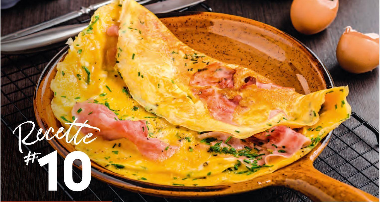 Omelette à la Ventrêche et Ossau Iraty