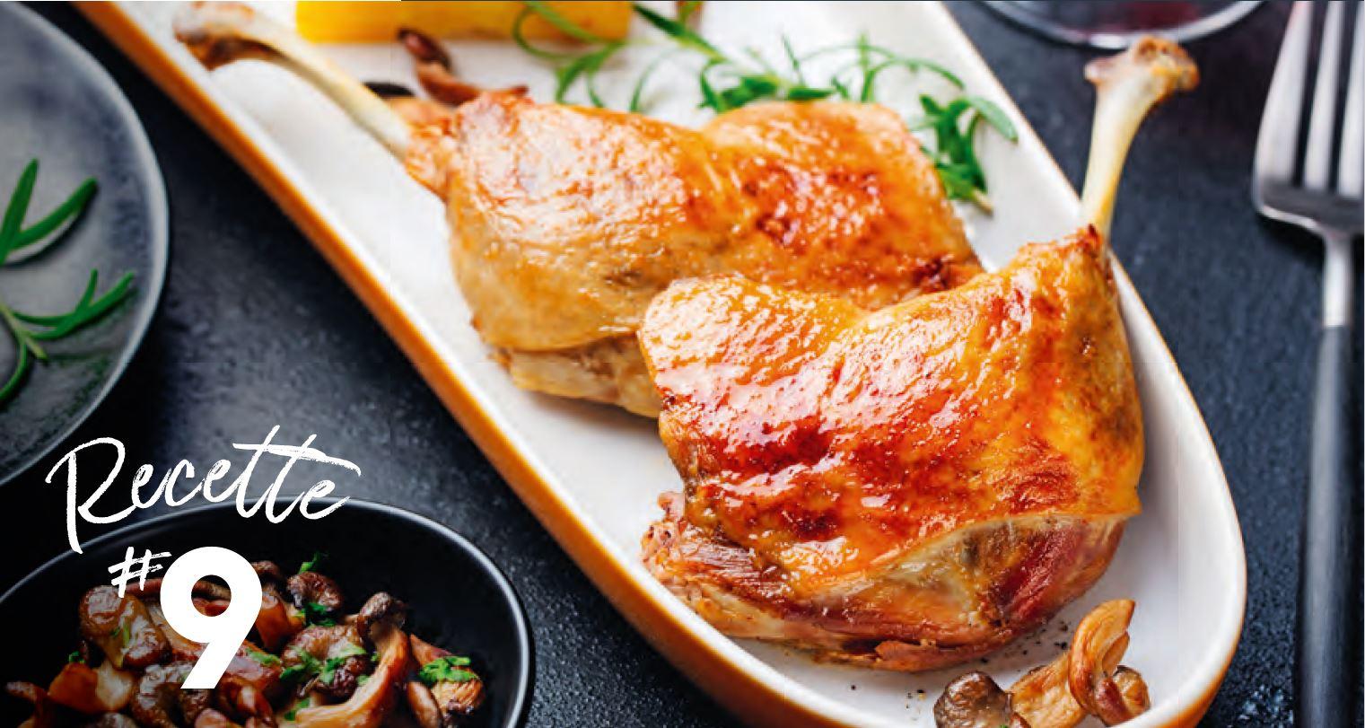 Cuisses de canard confites sauce Barbecue